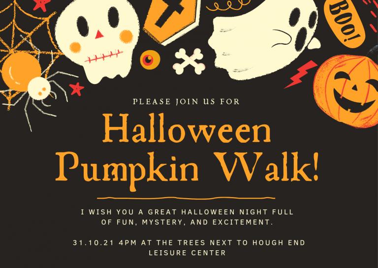Halloween Pumpkin Walk – Sun 31 Oct, 3pm – 4pm